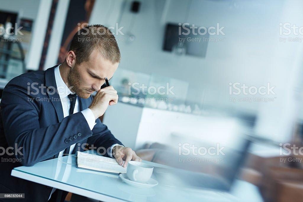 Man brainstorming foto royalty-free