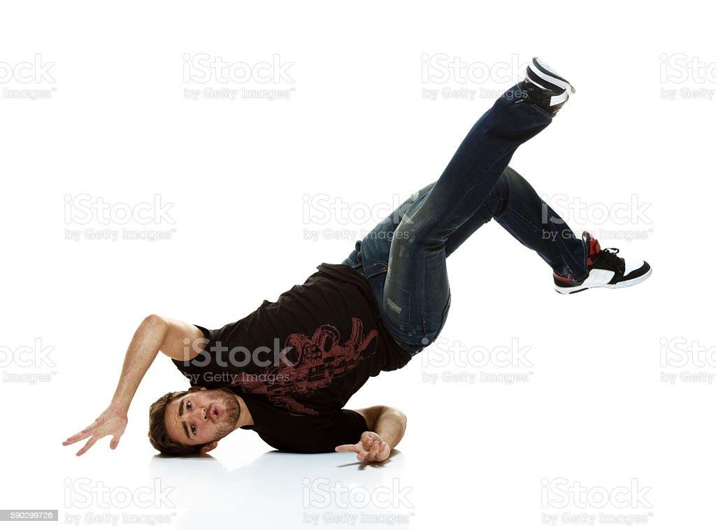 Человек Брейк-данс Стоковые фото Стоковая фотография