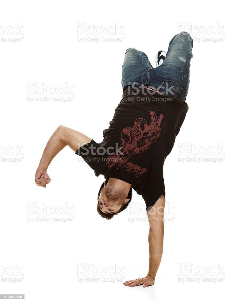 Homme Breakdance photo libre de droits