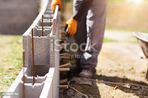 istock Man building a house 477678760