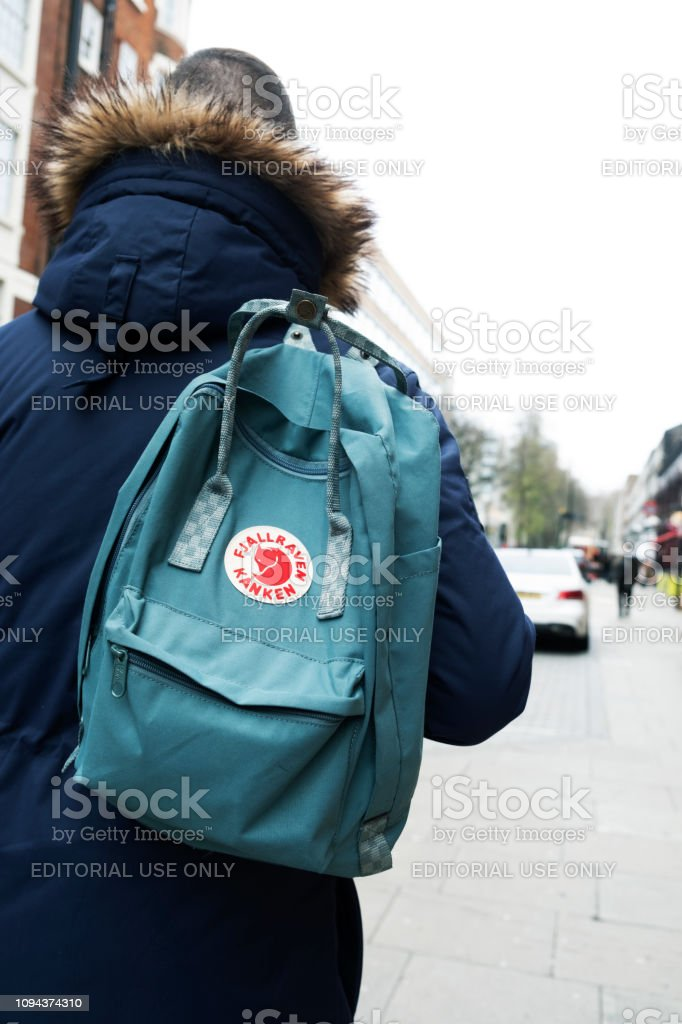 order online lower price with a few days away Man Carrying A Fjallraven Kanken Backpack In London Stock ...