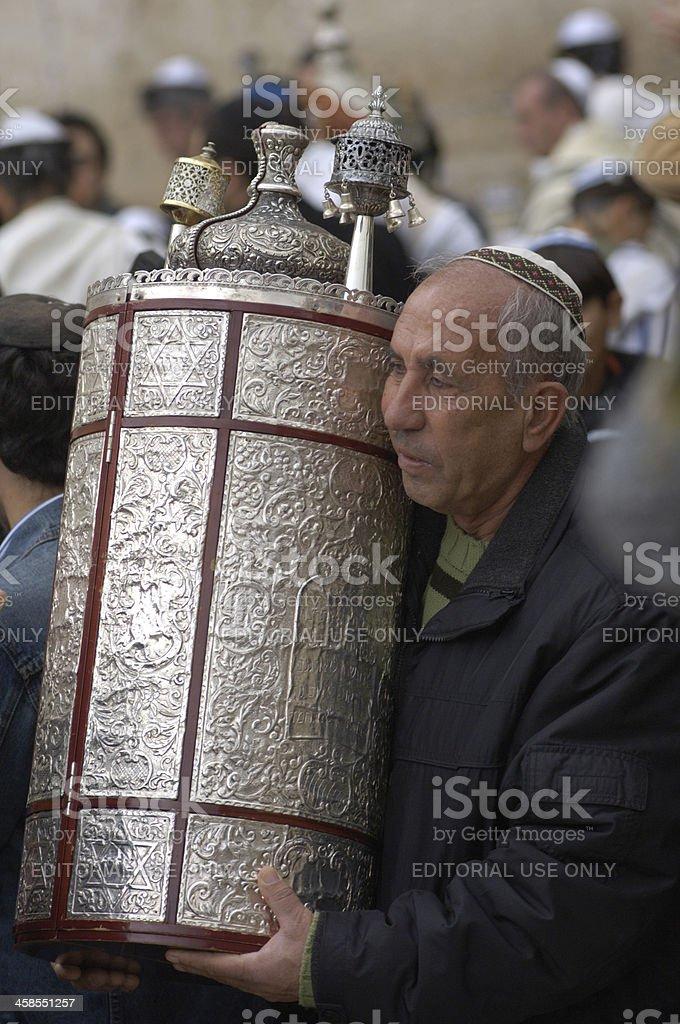 Man carrying tora royalty-free stock photo