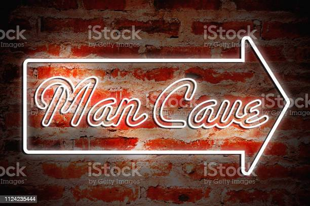 Man Cave Stock Photo - Download Image Now