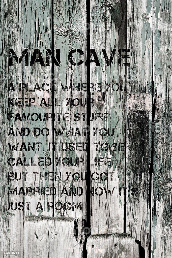 Man Cave stock photo