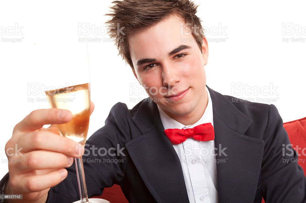 Man Champagne royalty-free stock photo