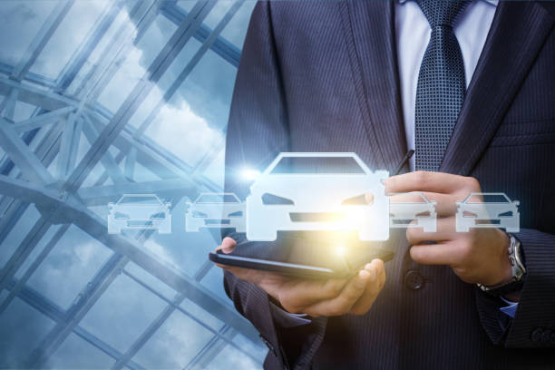 a man chooses a car. - transportation icons stock photos and pictures