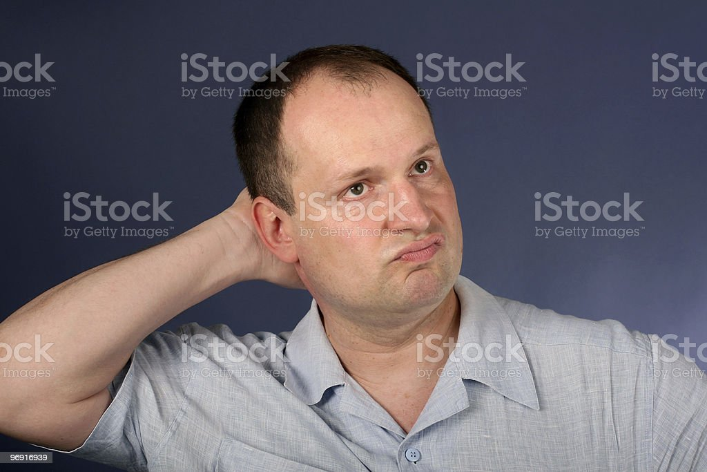 man cogitation royalty-free stock photo