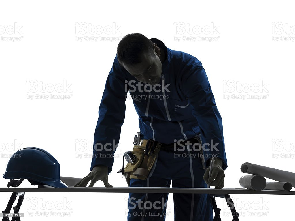 man construction Architect silhouette royalty-free stock photo