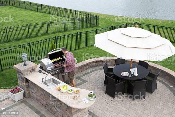 Man cooking meat on a gas bbq picture id491995831?b=1&k=6&m=491995831&s=612x612&h=ihoiguzb0ep3pn q0n nxyhwubkcv d6 s9 jwycvze=