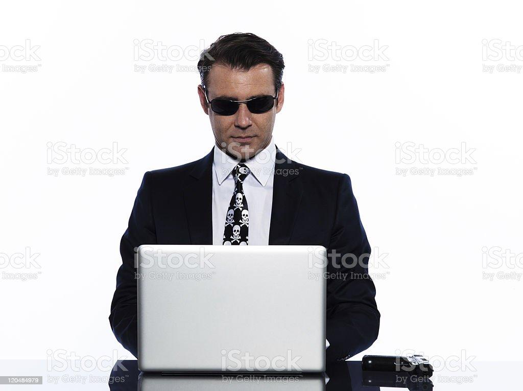 man criminal hacker computing white collar crime royalty-free stock photo