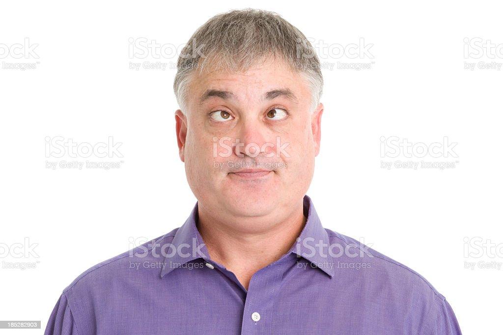 Man Crosses Eyes royalty-free stock photo