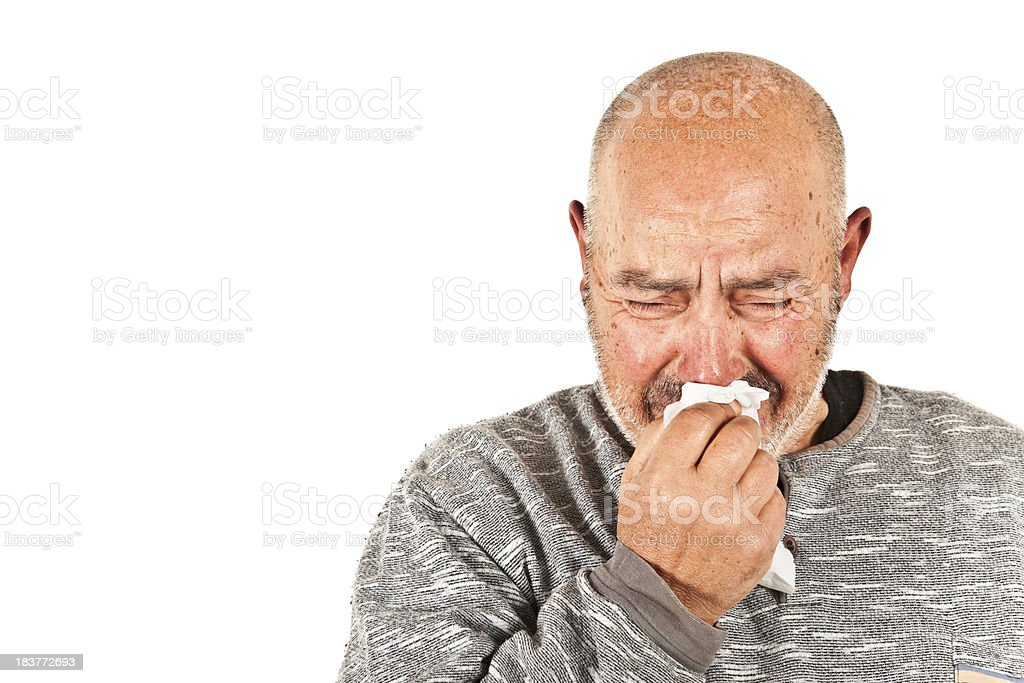Man Crying Like a Wimp stock photo