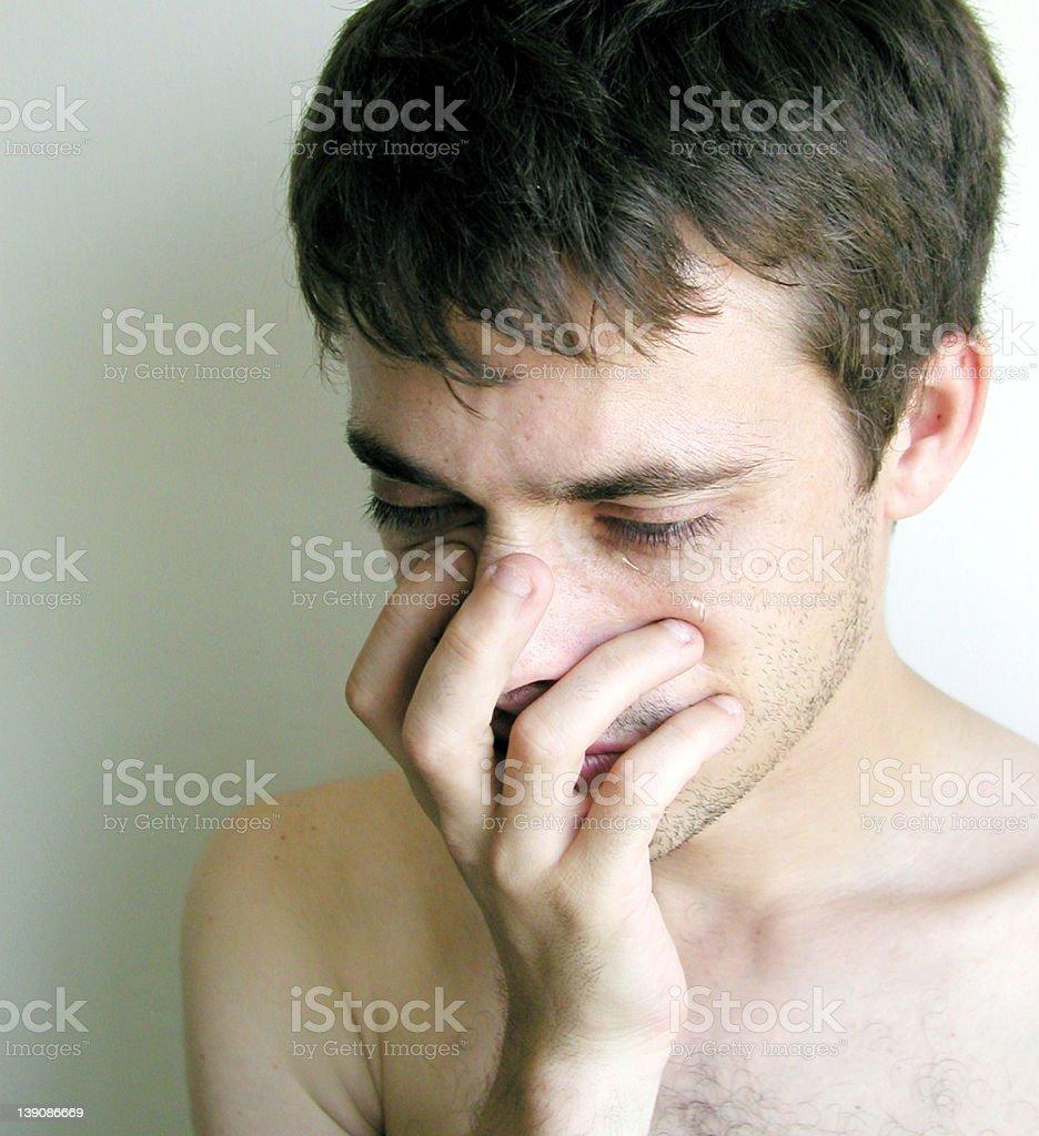 Man crying royalty-free stock photo