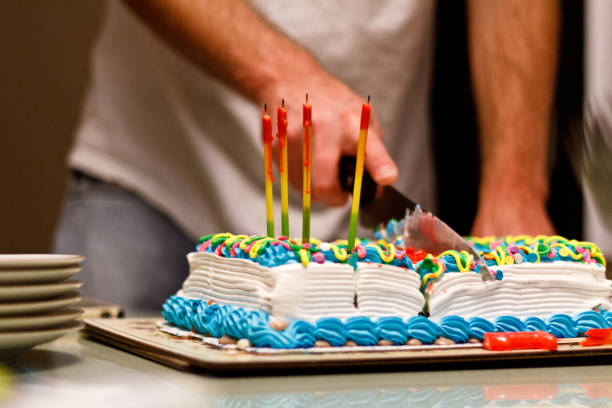 Top 60 Birthday Cake Knife Stock Photos Pictures And Images Istock