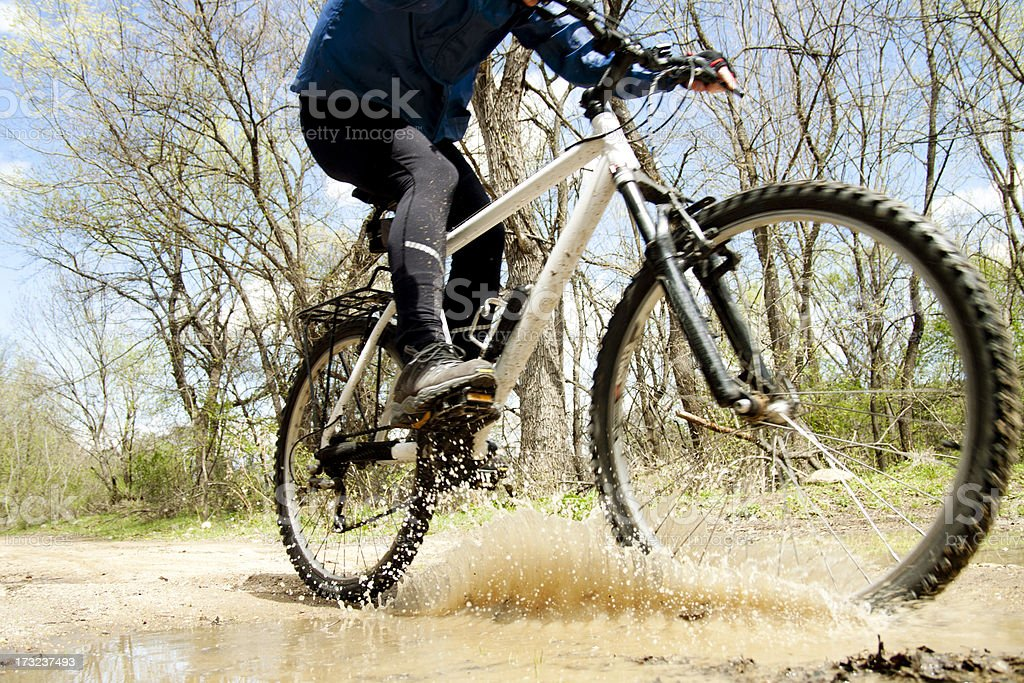 man cycling royalty-free stock photo