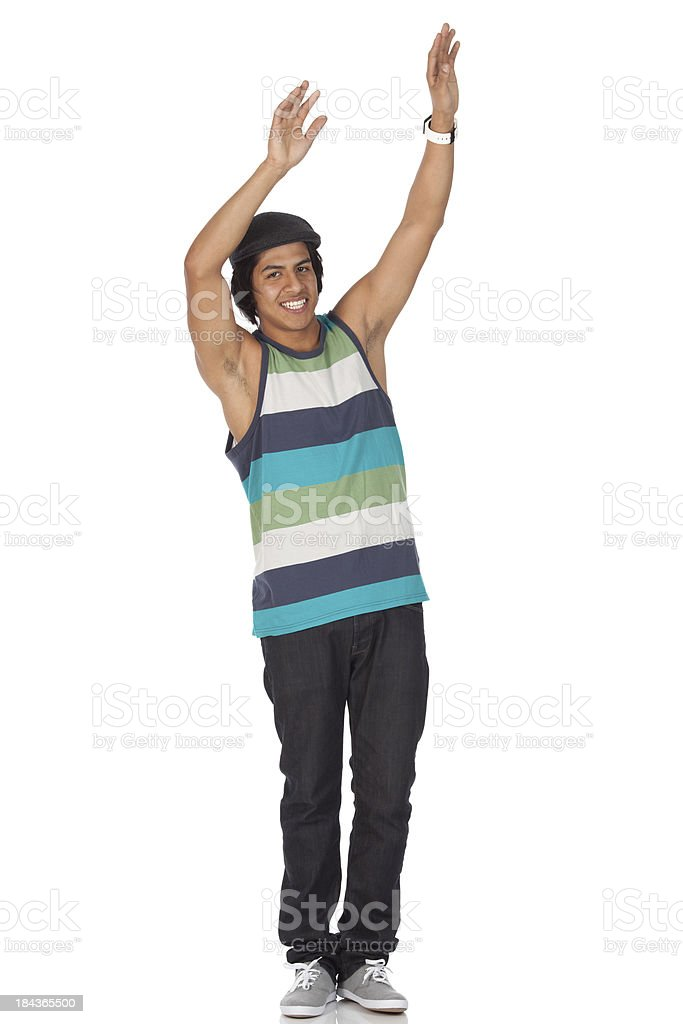 Man dancing stock photo