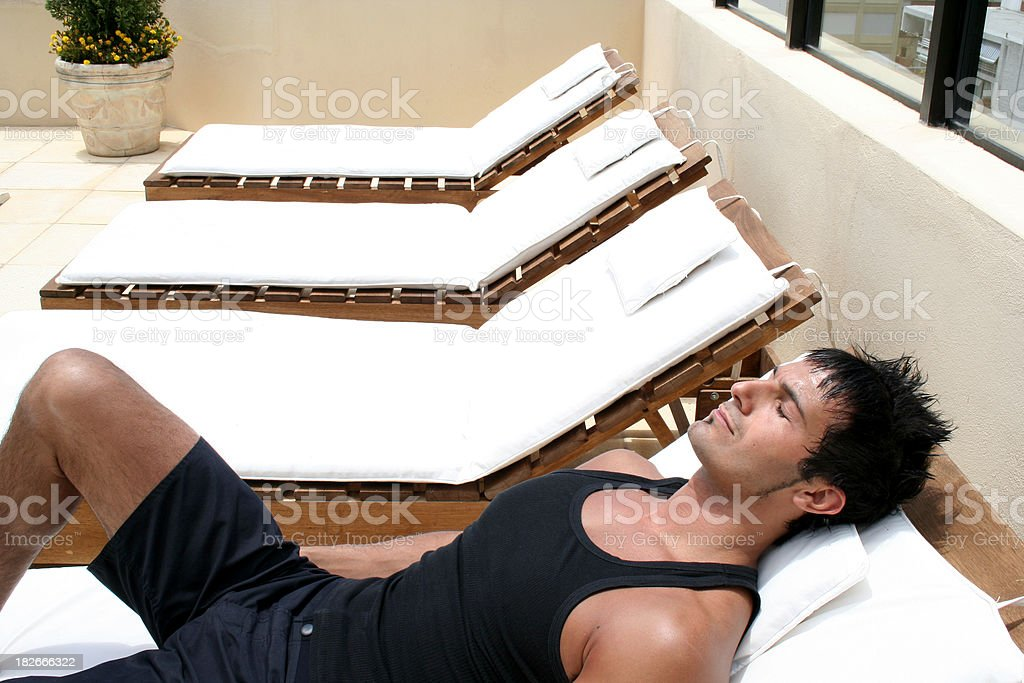 Man Dayspa stock photo