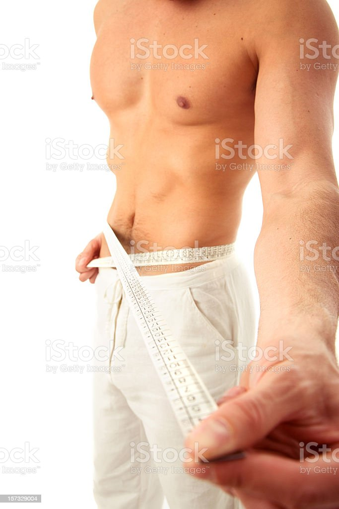 Man Diet royalty-free stock photo