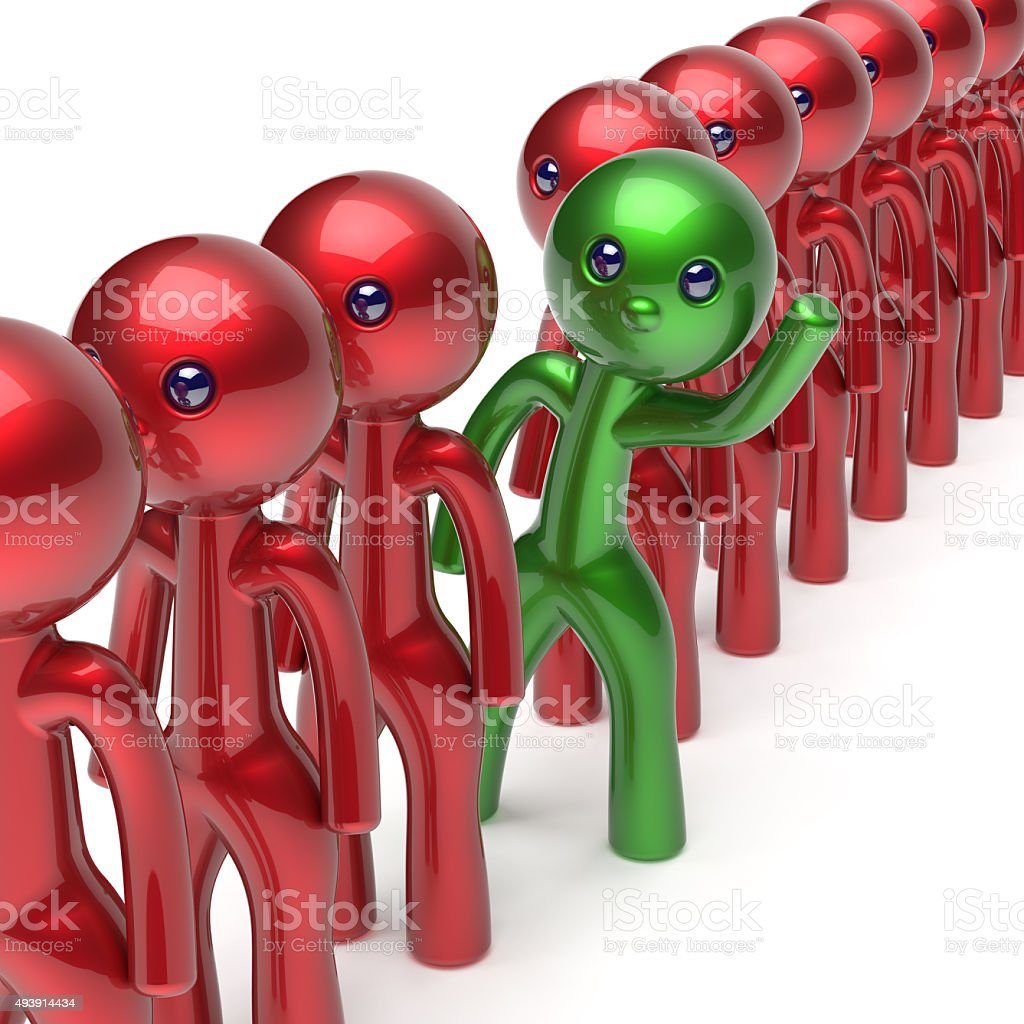 Man different people character stand out from the crowd icon stock photo