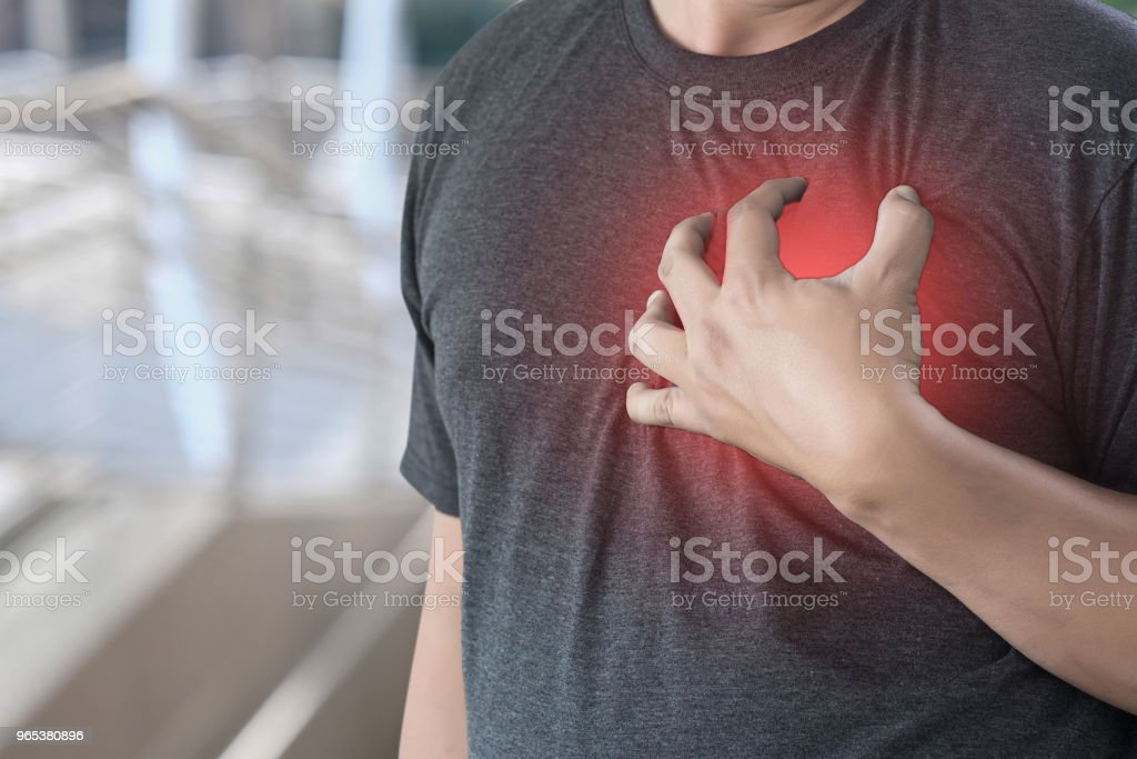 man disease chest pain suffering Heart attack royalty-free stock photo