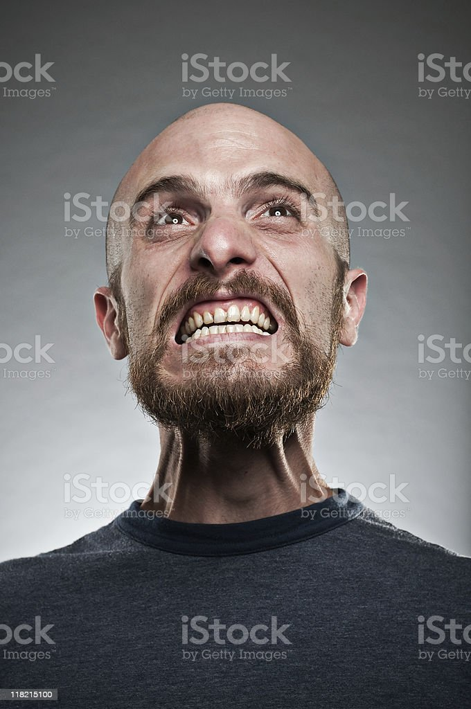 Man Displaying A Fit Of Rage  30-39 Years Stock Photo