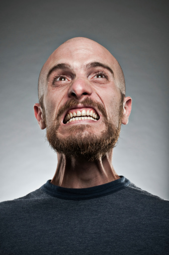 Man Displaying A Fit Of Rage Stock Photo - Download Image Now