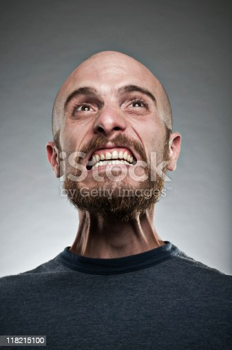 Man Displaying A Fit Of Rage Stock Photo & More Pictures of 30-39 Years