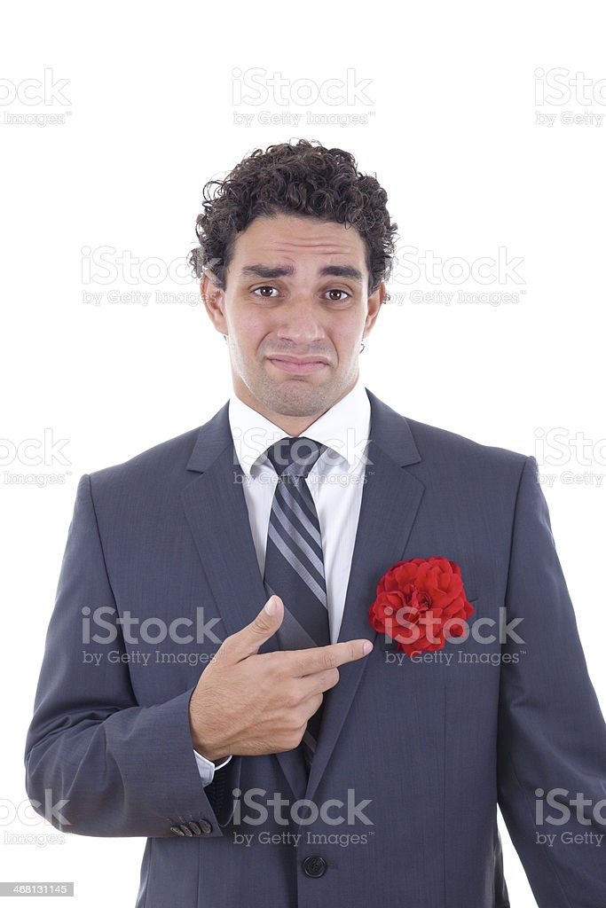 man does not love flowers stock photo