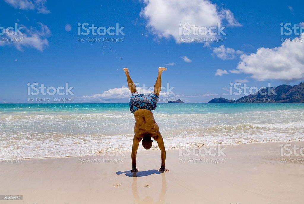Man Doing a Back-flip royalty-free stock photo