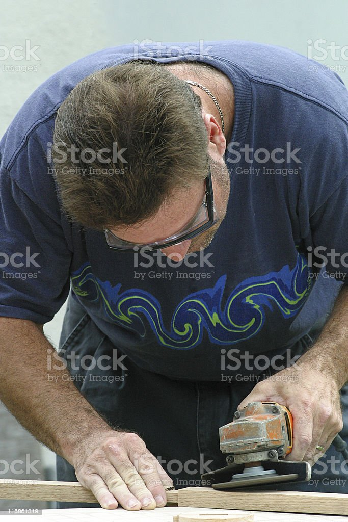 Man Doing Carpentry royalty-free stock photo