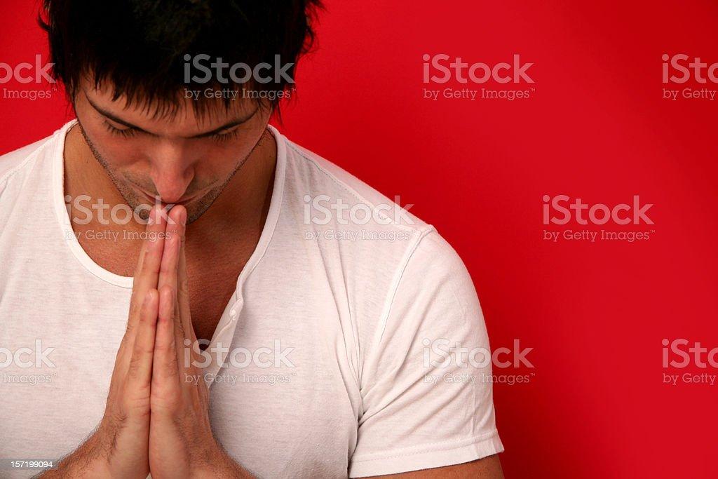 Man Doing Yoga royalty-free stock photo