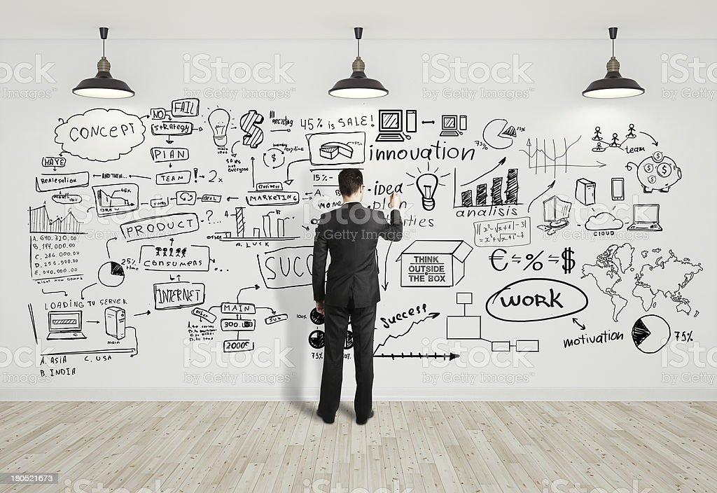 man drawing business concept royalty-free stock photo