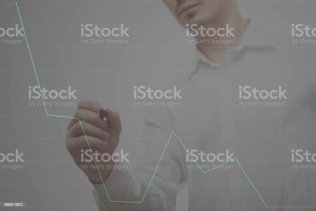 Man drawing graphic royalty-free stock photo