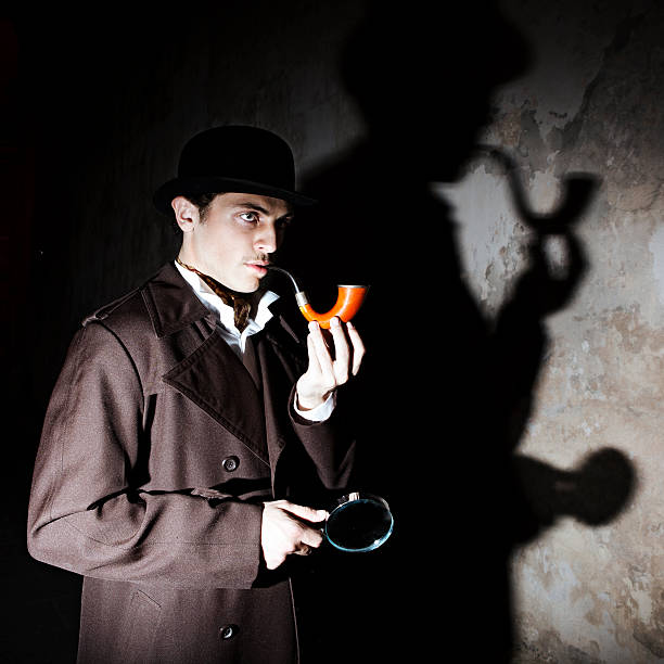 A man dressed as Sherlock Homes, with moody lighting Man dressed up as famous detective Sherlock Holmes outdoors.  Note: All props in this shoot including pipe are authentic vintage items. Slight light trails and motion blur on arms. Grain Added. [url=file_closeup.php?id=13571687][img]file_thumbview_approve.php?size=1&id=13571687[/img][/url] [url=file_closeup.php?id=13548314][img]file_thumbview_approve.php?size=1&id=13548314[/img][/url] [url=file_closeup.php?id=13548292][img]file_thumbview_approve.php?size=1&id=13548292[/img][/url] [url=file_closeup.php?id=13548271][img]file_thumbview_approve.php?size=1&id=13548271[/img][/url] [url=file_closeup.php?id=13548249][img]file_thumbview_approve.php?size=1&id=13548249[/img][/url] [url=file_closeup.php?id=13548231][img]file_thumbview_approve.php?size=1&id=13548231[/img][/url] [url=file_closeup.php?id=13894179][img]file_thumbview_approve.php?size=1&id=13894179[/img][/url] [url=file_closeup.php?id=13894166][img]file_thumbview_approve.php?size=1&id=13894166[/img][/url] sherlock holmes stock pictures, royalty-free photos & images