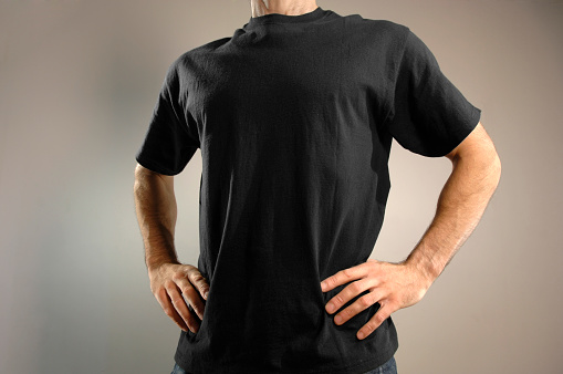 Man Dressed in Black T Shirt