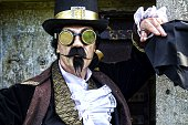 istock man dressed in vintage steampunk clothing 478060878
