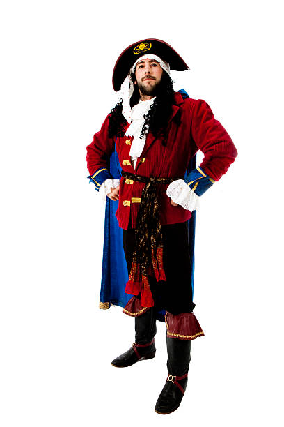man dressed up in a pirate costume - pirates stock photos and pictures