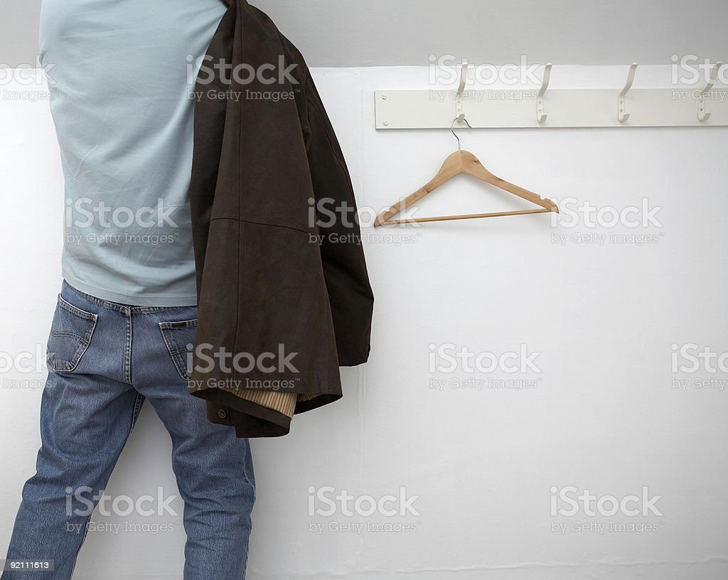 Man dressing stock photo