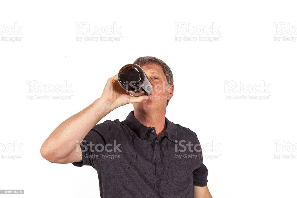 man drinking alcohol royalty-free stock photo