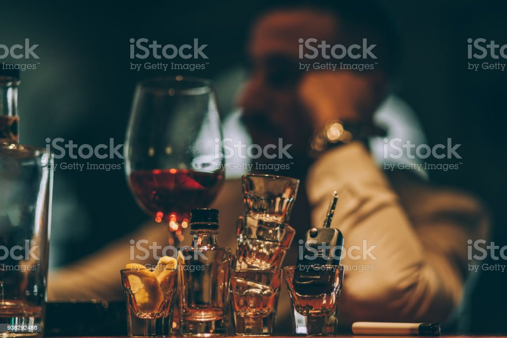Man drinking all day - Royalty-free Addict Stock Photo