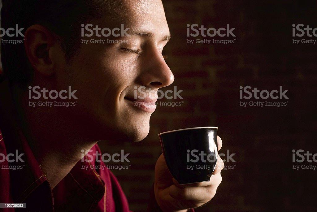 man drinking coffee royalty-free stock photo