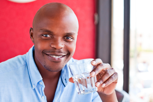 Man Drinking Water Stock Photo - Download Image Now