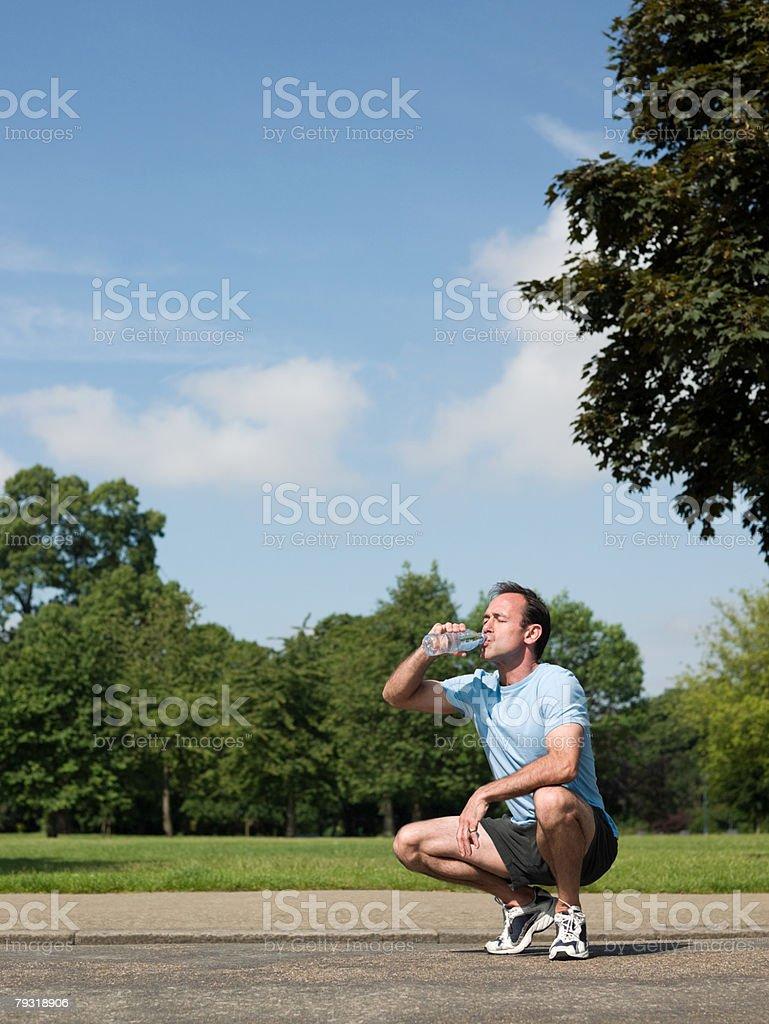 A man drinking water 免版稅 stock photo