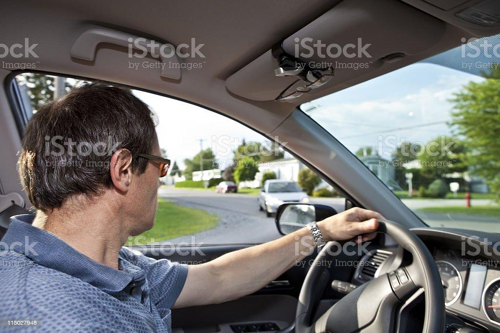 Man Driving Car royalty-free stock photo