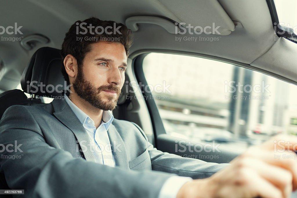 Mann mit dem Auto – Foto