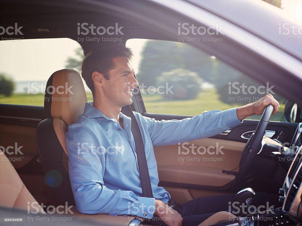 Man Driving Car stock photo