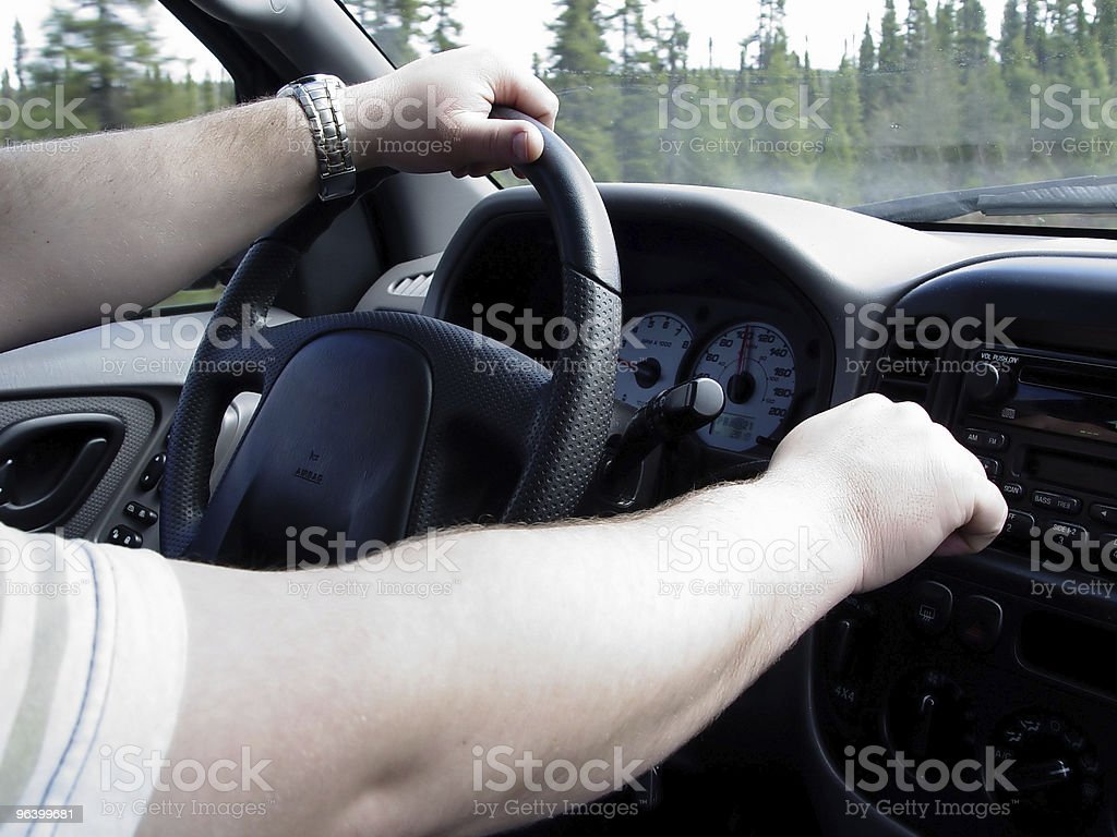 Man Driving Truck - Royalty-free Abstract Stock Photo