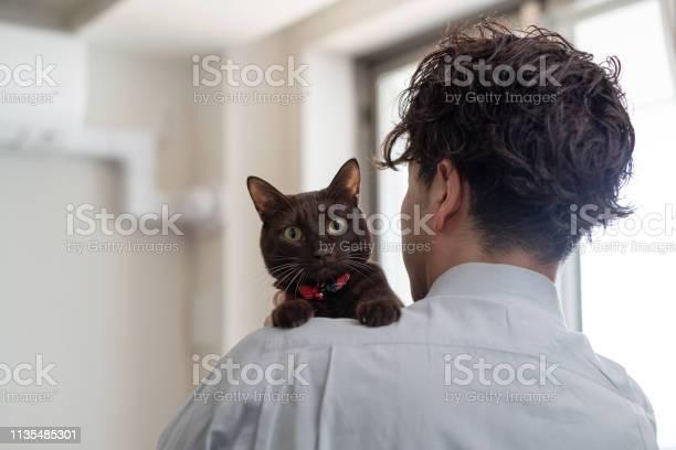 Man embracing cat beside window picture id1135485301?b=1&k=6&m=1135485301&s=612x612&h=kgifwxpdatlplpscmhnabpwmhsa zzbcpdeugmypc68=