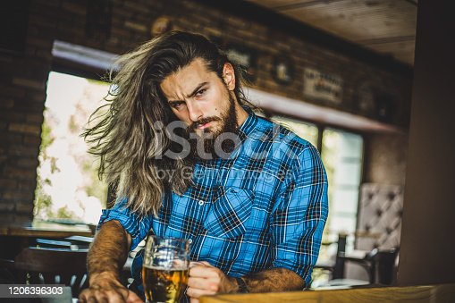 Serbia, Beer - Alcohol, Men, Drinking, Hipster - Person, Bar - Drink Establishment