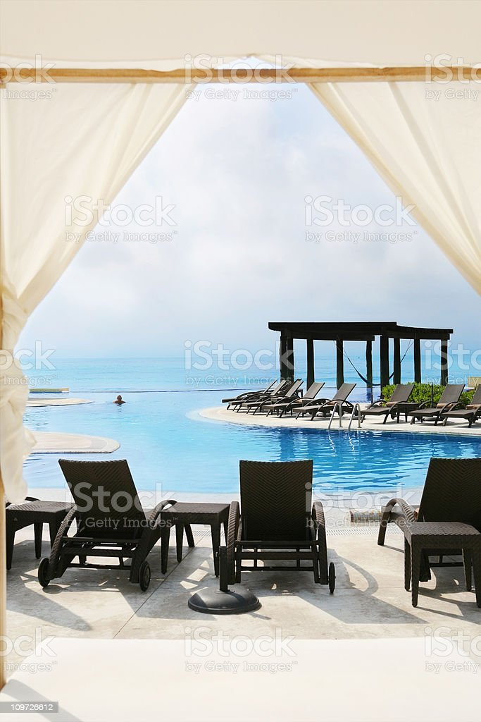 Man Enjoying a Quiet Swim royalty-free stock photo